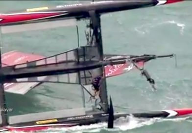 Dramatic capsize of Team New Zealand