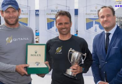 Rolex presentation to multihull line honours skippers Charles Caudrelier and Franck Cammas of Maxi Edmond de Rothschild © Carlo Borlenghi/Rolex