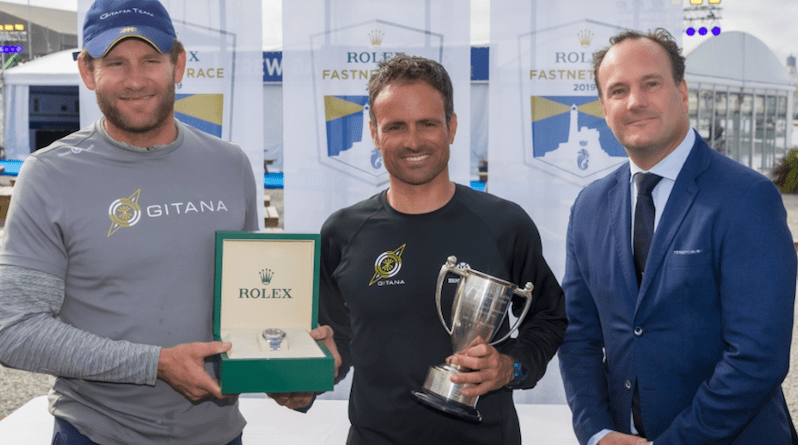 Rolex presentation to multihull line honours skippers Charles Caudrelier and Franck Cammas of Maxi Edmond de Rothschild © Carlo Borlenghi/Rolex